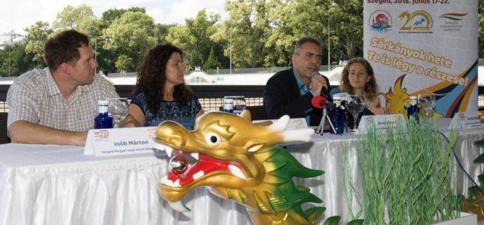 Sárkányhajó világbajnokság – Szegedi sajtótájékoztató